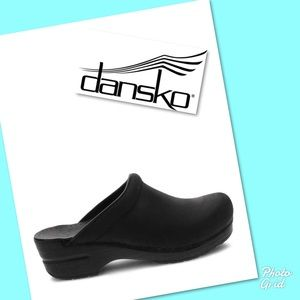 Dansko mules clogs shoes oil rubbed 40 black
